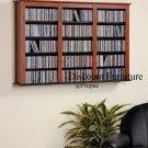 TRIPLE CD, DVD, VHS MEDIA CHERRY FLOATING/HANGING WALL STORAGEBY PREPAC