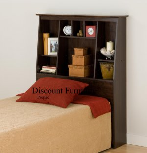 TALL/SLANT HEADBOARD FOR TWIN BED PREPAC ESPRESSO COLOR