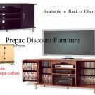 "42"" PLASMA TV CONSOLE W/MEDIA STORAGE BY PREPAC BLACK"