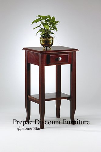 SOLID WOOD HALL/TELEPHONE TABLE  WINE STAIN