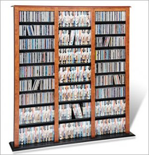 CHERRY CD/DVD/VHS MEDIA STORAGE BARRISTER TOWER