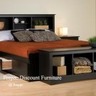 FULL MATED BEDROOM SET – BED, HEADBOARD, AMOIRE, CHEST, BENCH