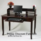 SOLID WOOD COMPUTER WRITING DESK WINE STAIN