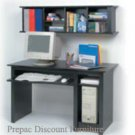 COMPUTER DESK W/HUTCH BLACK COLOR