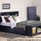 QUEEN BEDROOM SET  HEADBOARD, BED  NIGHTSTAND TALL CHEST BENCH