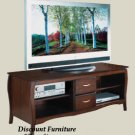 SOLID WOOD 60IN PLASMA TV CONSOLE WALNUT STAIN W/STORAGE