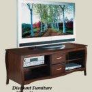 SOLID WOOD 60IN PLASMA TV CONSOLE WALNUT STAIN W/STORAGE