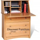 MAPLE  SECRETRARY  WRITING DESK W/3 DRAWERS BY PREPAC