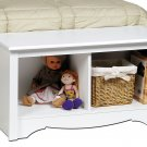 TWIN CUBBIE BENCH WHITE COLOR BY PREPAC