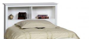 MONTEREY WHITE HEADBOARD FOR TWIN MATES BED PREPAC