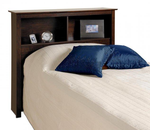 ESPRESSO HEADBOARD FOR TWIN MATES BED PREPAC