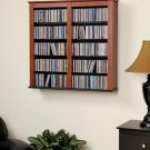 "CD,DVD,VHS 33"" WIDE CHERRY HANGING WALL STORAGE"