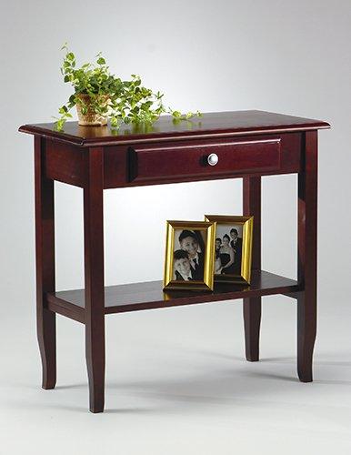 MERLOT SOLID WOOD  CONSOLE/FOYER TABLE W/DRAWER SHELF
