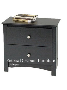 2 DRAWER BLACK NIGHT STAND SONOMA COLLECTION