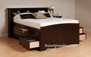 BLACK COLOR HEADBOARD FOR DOUBLE/QUEEN BED PREPAC