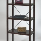 ESPRESSO SOLID WOOD BOOKCASE/ETAGERE