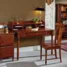 CHERRY SOLID WOOD 5 PIECE SMALL OFFICE