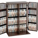 SMALL ESPRESSO CD/DVD CABINET W/SHAKER DOOR