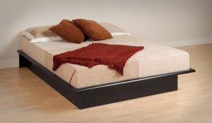 BLACK  FULL PLATFORM BED