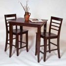 JAMESTOWN SOLID WOOD 36 INCH PUB SET TABLE AND BAR STOOLS