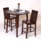 "WESTBROOK SOLID WOOD 3 PIECE 36"" PUB TABLE SET"