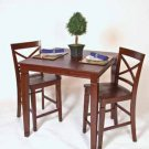 "CONCORD SOLID WOOD 3 PIECE 36"" PUB TABLE SET"