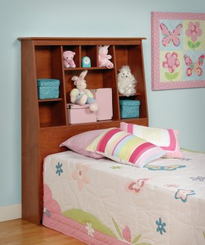 TALL/SLANT HEADBOARD FOR TWIN BED PREPAC CHERRY COLOR