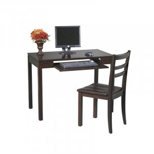 ESPRESSO SOLID WOOD DESK AND CHAIR