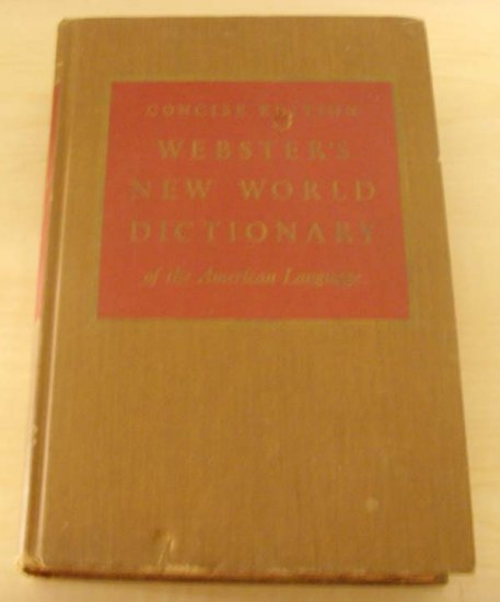 (vintage) Webster's New World Dictionary Concise Edition 1960