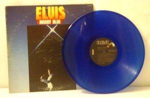 Elvis Presley:  Moody Blue (RCA, AFL1-2428-A, Blue Vinyl)