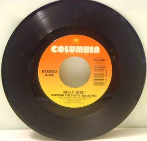 Billy Joel:  Keeping the Faith, She's Right on Time (45 RPM)