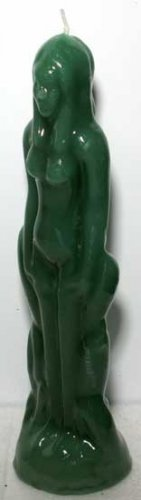 Female Green Human Figure Candle