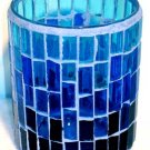 Candle Holder: Blue Mosaic Votive