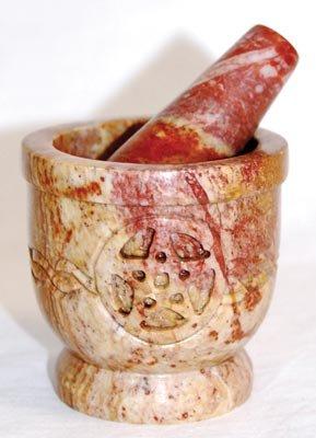 Celtic Pentagram Mortar and Pestle
