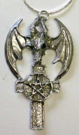 Dragon Cross Pentacle Pendant
