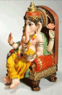 Ganesh Throned