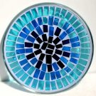 Candle Holder: Blue Mosaic Plate
