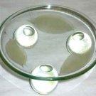 Golden Leaf Glass Candle Holder