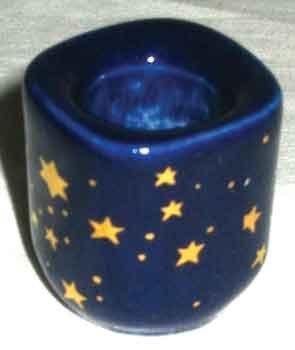"Candle Holder: Blue Star 1/2"""