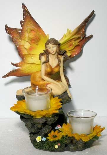 Sunflower Fairy Candle Holder