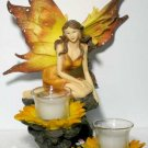 Sunflower Fairy Candle Holder