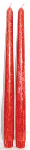 Red Palm Oil Tapered Candles