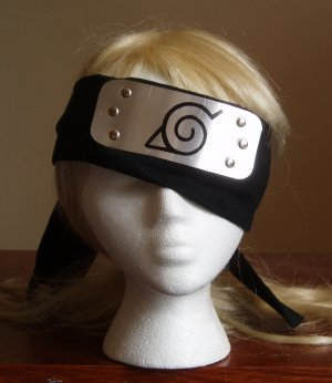 Naruto cosplay: Kakashi headband - covers eye and ear!