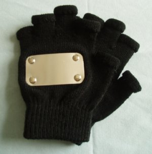 Naruto cosplay: Black fingerless Kakashi gloves