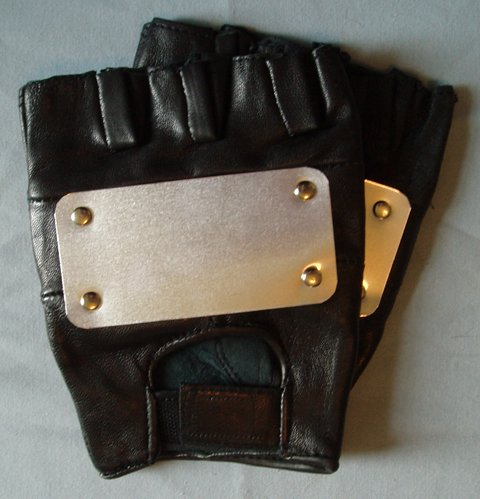 Naruto cosplay: Leather Kakashi gloves - most accurate!