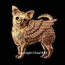 Chihuahua Guardian Angel Dog Pin