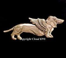 Dachshund Guardian Angel Dog Pin