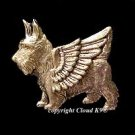 Scottie Guardian Angel Dog Pin   Scottish Terrier