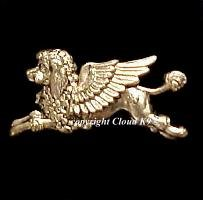 Poodle Guardian Angel Dog Pin