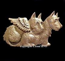 Westie and Guardian Angel Dog Pin   West Highland White Terrier  Scottish Terrier